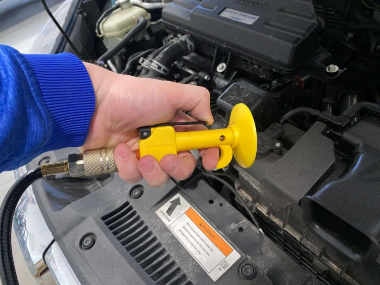 Example of OSHA approved air blow gun with lever.